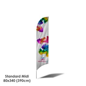 Beach Flag Standard Midi 80x340 (390cm)