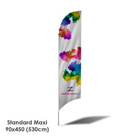 Beach Flag Standard Maxi 90x450 (530cm)