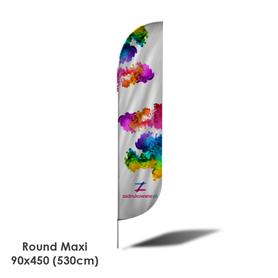 Beach Flag Round Maxi 90x450 (530cm)