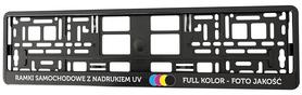 Ramki pod tablice - NADRUK UV - 100 sztuk