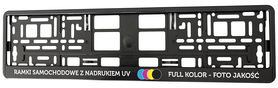 Ramki pod tablice - NADRUK UV - 50 sztuk